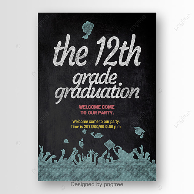 Graduation Party Poster Design Text Effect PSD For Free