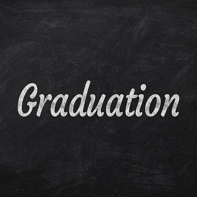 graduation witten on chalkboard font design text effect