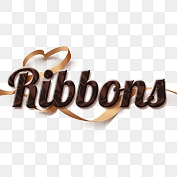 chocolate and realistic ribbons abstract fonts Fonts