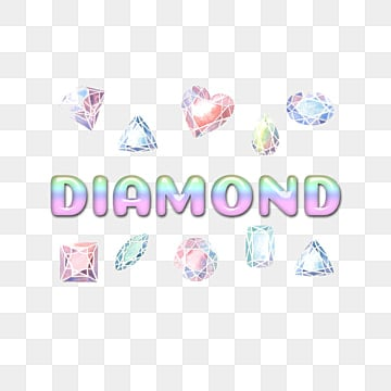 colorful gemstone with diamond simple fonts Fonts