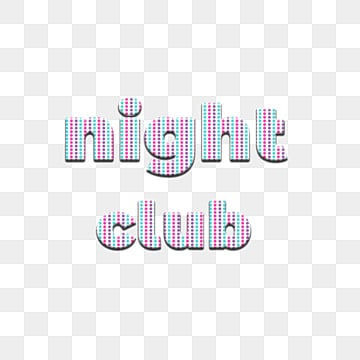 seamless and colorful dot with night club fonts Fonts
