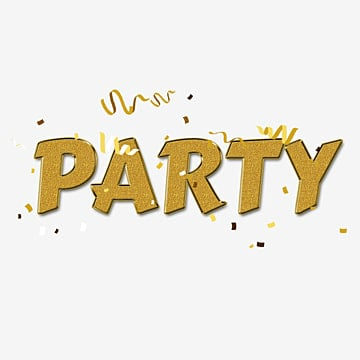 simple party with  fonts Fonts