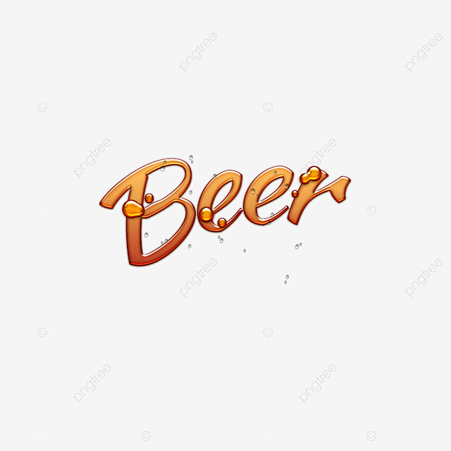 3d beer abstract font design art font for free download