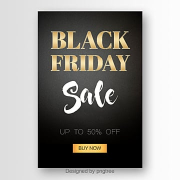 modern poster with golden black friday fonts Fonts