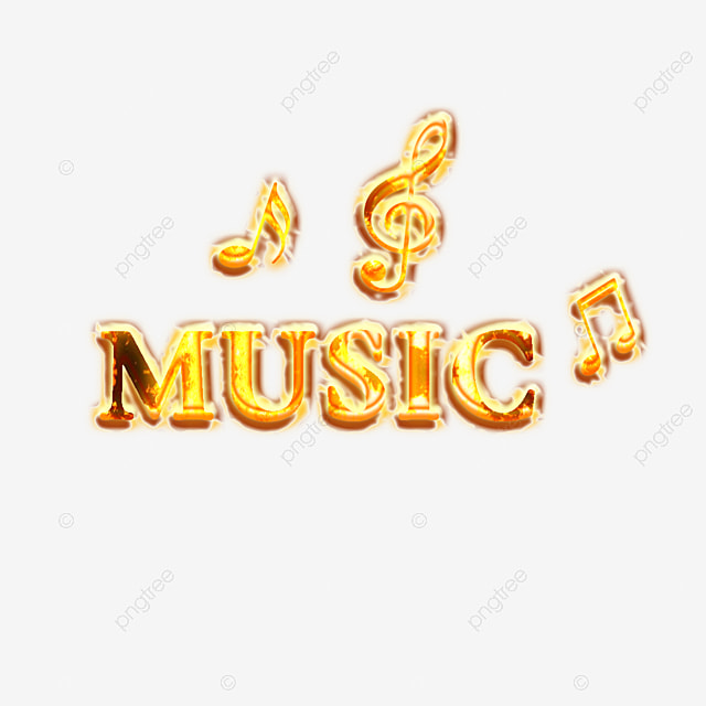 Golden Music Simple Fonts With Music Note Art Font For Free