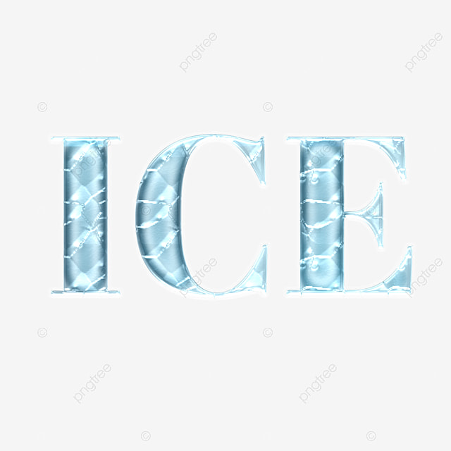 transparent and cold ice simple font art font for free