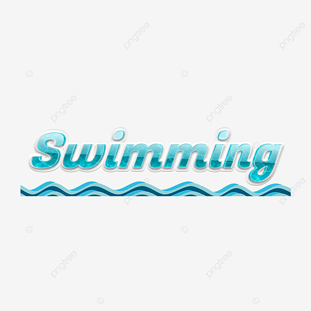 Cool Swimming Simple Fonts With Blue Jets Text Effect Psd
