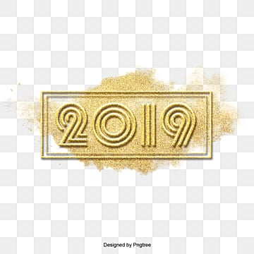 A rectangular frame 2019., Yellow., Golden, Square Gold. PNG and PSD
