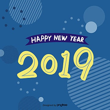 the original life style font 2019 blue blue sticker, I Wish You A Happy New Year, The First, New Year's Day PNG and PSD