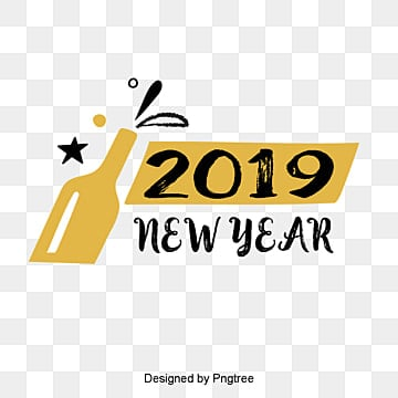 new years english font decorative font design of golden black new year font in 2019, Two Thousand And Nineteen, Winter, Christmas PNG and PSD