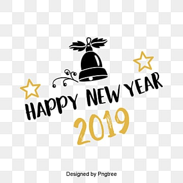 new years english font decorative font design of golden black new year font in 2019, Two Thousand And Nineteen, New Year, English PNG and PSD