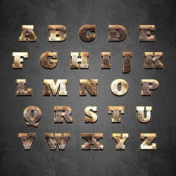3d alphabet style 20 alphabet alphabet letter collection png and psd