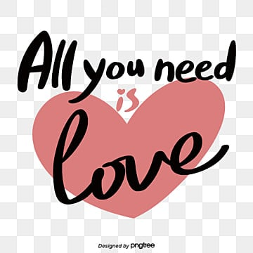 all you need is love handwritten fonts with red love background Fonts