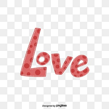 cute love red point hand painted font Fonts