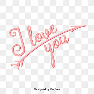 i love your valentines day title arrow pink font design Fonts