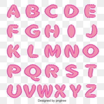 pink lace alphabet Fonts