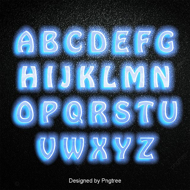 24個の英字表の集合フォントの字の字の書道のポスターの漸変はネオンの ...