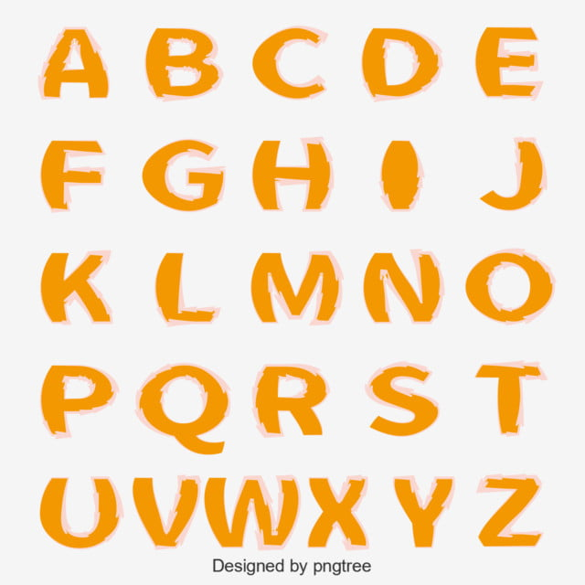 Download Orange Expansion English Alphabet Text Effect AI For Free ...