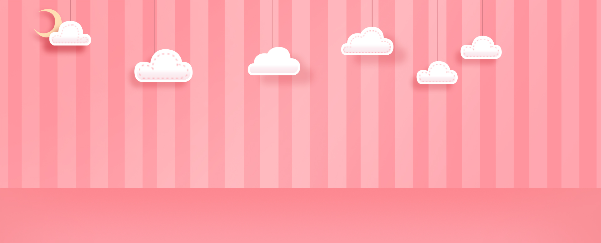 Cartoon Clouds Background Pink Full Screen Poster Lynx