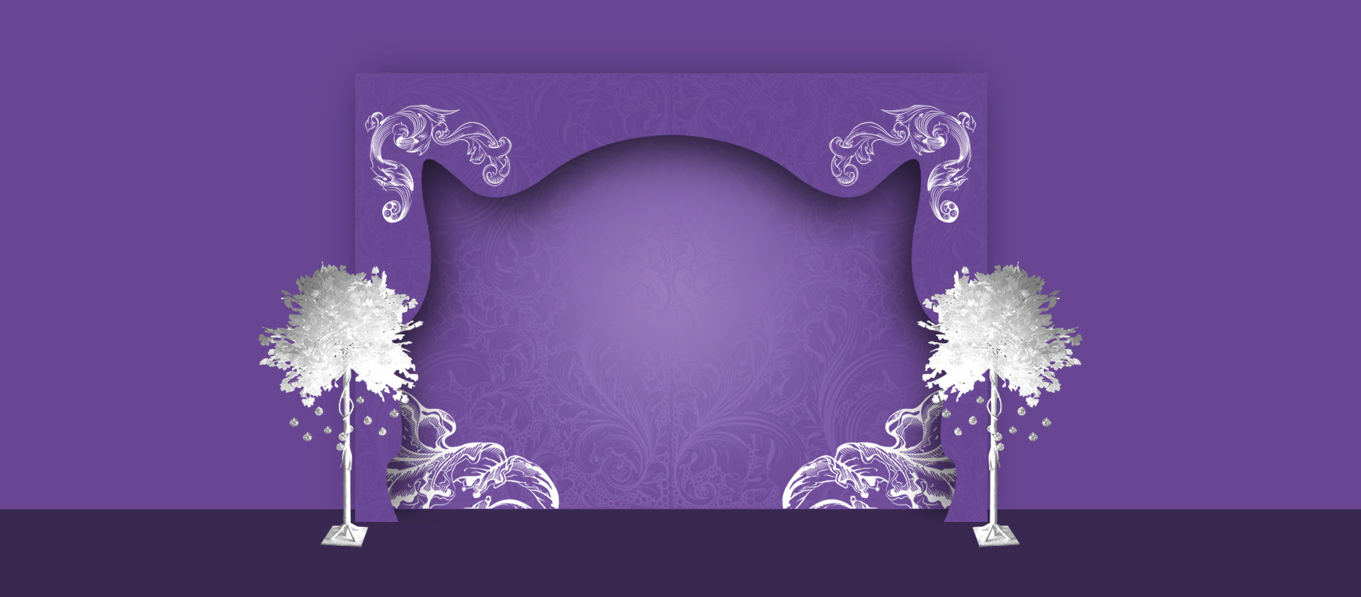 Wedding Invitations Pattern Background Banner Wedding