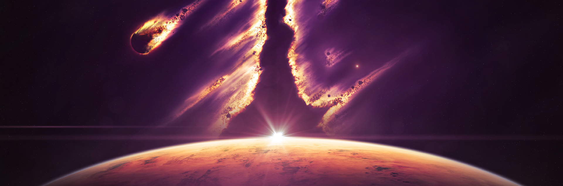 Domineering Cool Space Design Banner Background, Falling ...