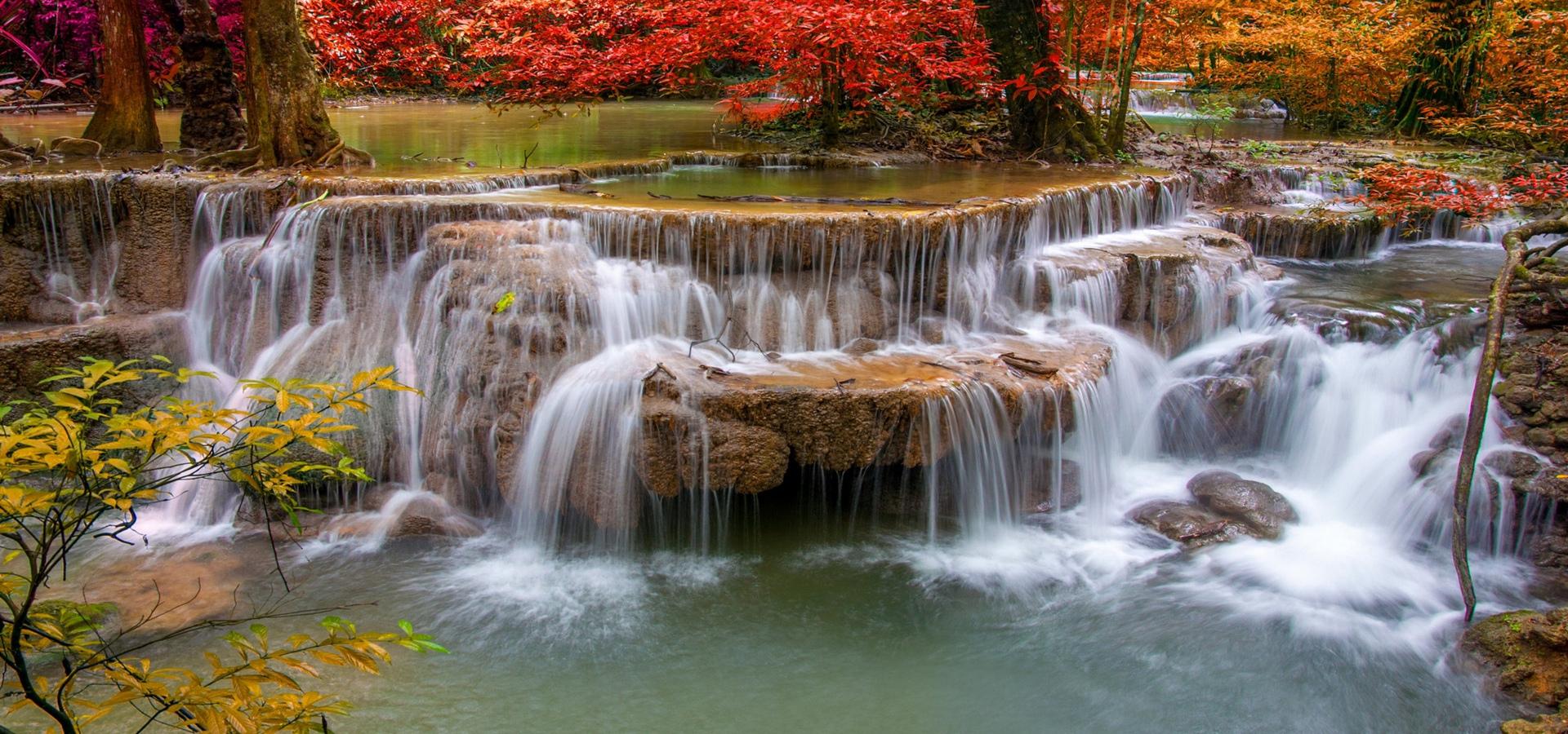 fontaine structure cascade de l u0026 39 eau contexte stream le paysage rock image de fond pour le