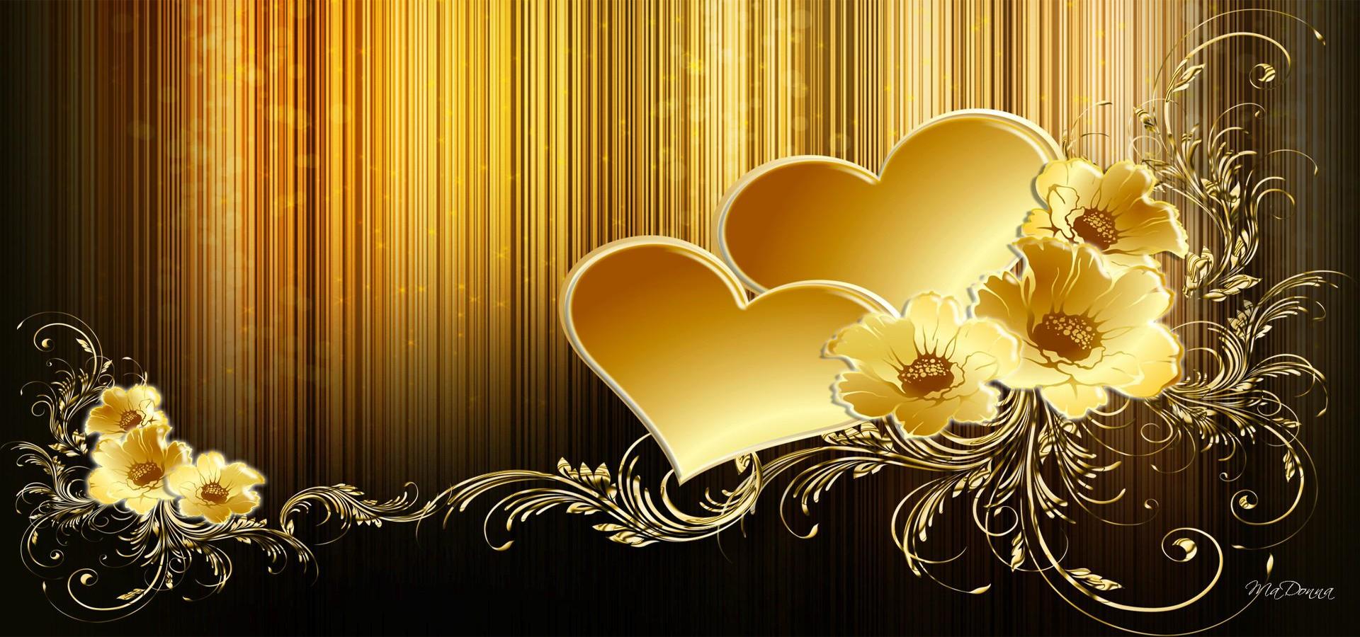 Открытка коричневая с золотом, лет