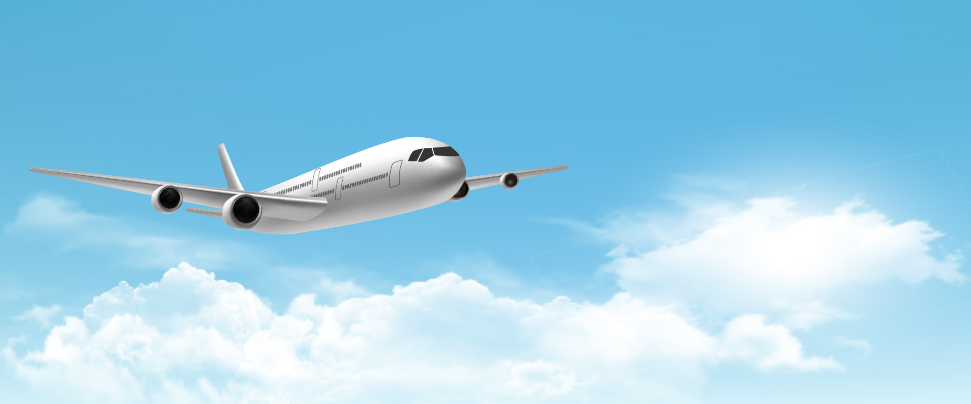 highflying airliner background  aircraft  clouds  blue sky