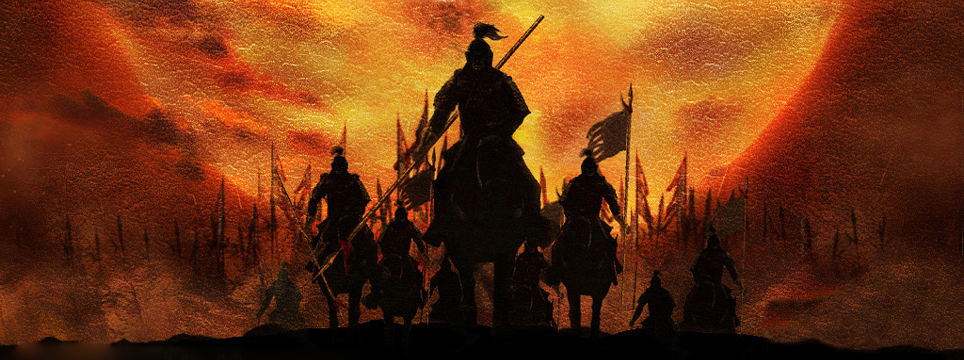 ancient war scenes background  horses  knight  ruins background image for free download