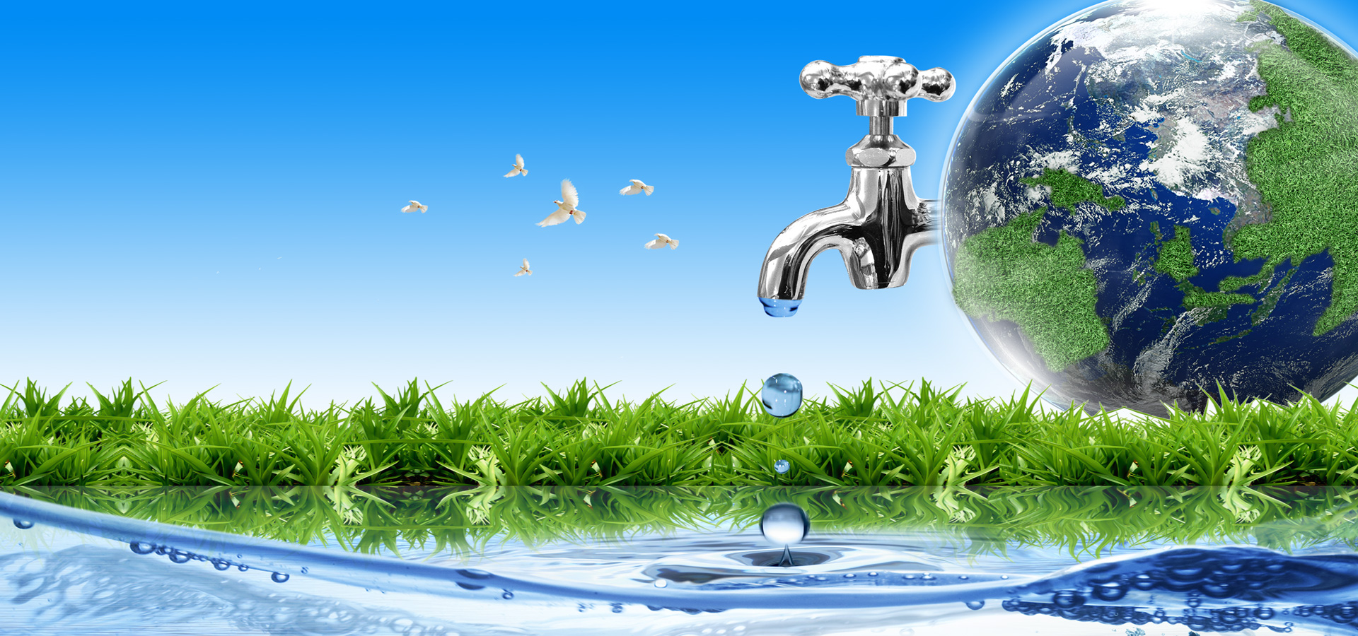 water conservation background  earth  faucet  meadow background image for free download
