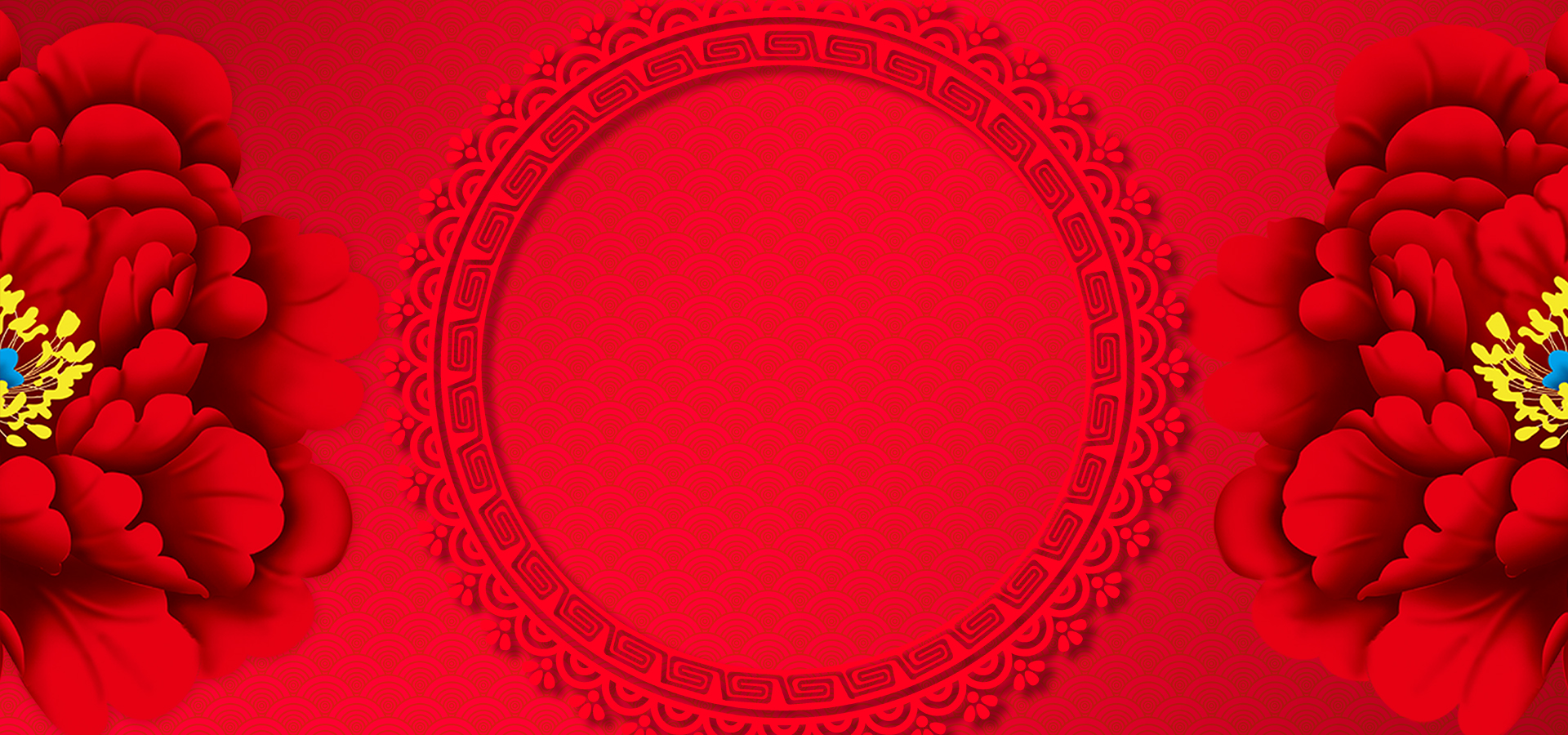 chinese new year red background  floral  spring festival