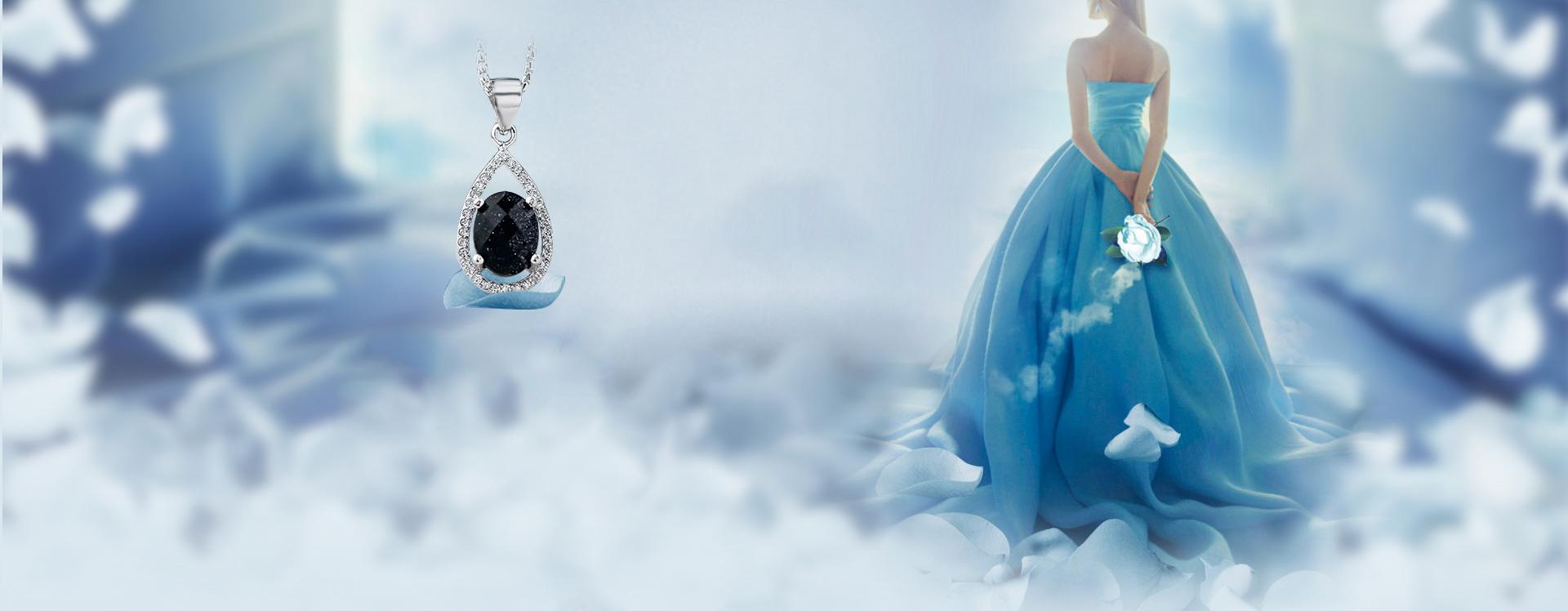 romantic blue jewelry dress background  crystal  sky blue