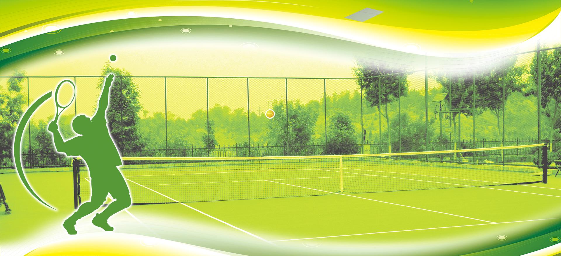Sport Wallpaper Tennis: Tennis Sports Green Field Background, Tennis Player, Grass