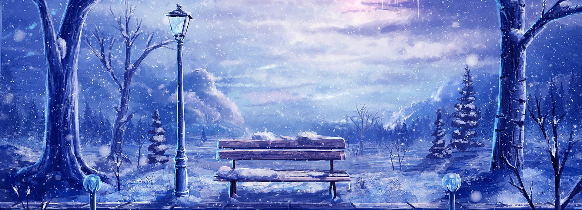 Christmas Banner Background, Snow, Winter, Christmas ...