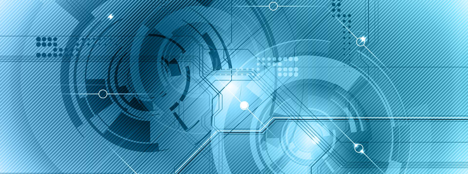 banni u00e8re bleue de la technologie num u00e9rique de fond bleu de