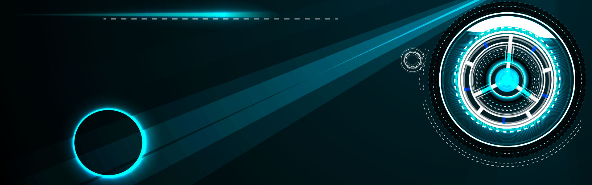 digital technology blue banner background cool beam  blue