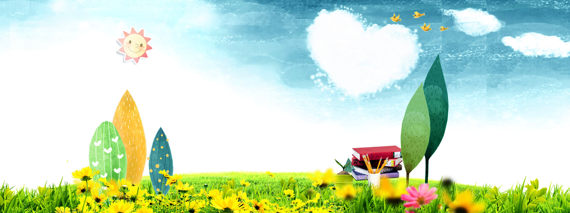 Los niños del jardín de Infancia Fondo de dibujos animados Jardín De ...