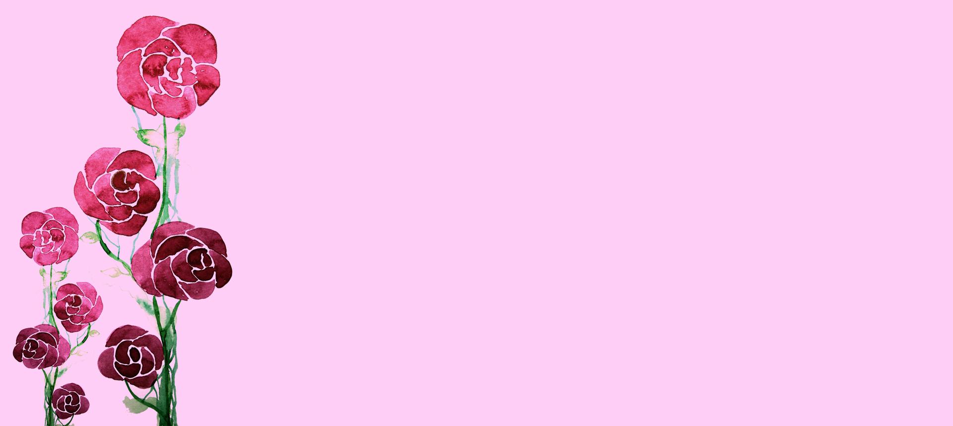 buket bunga ros latar belakang rose merah jambu segar imej