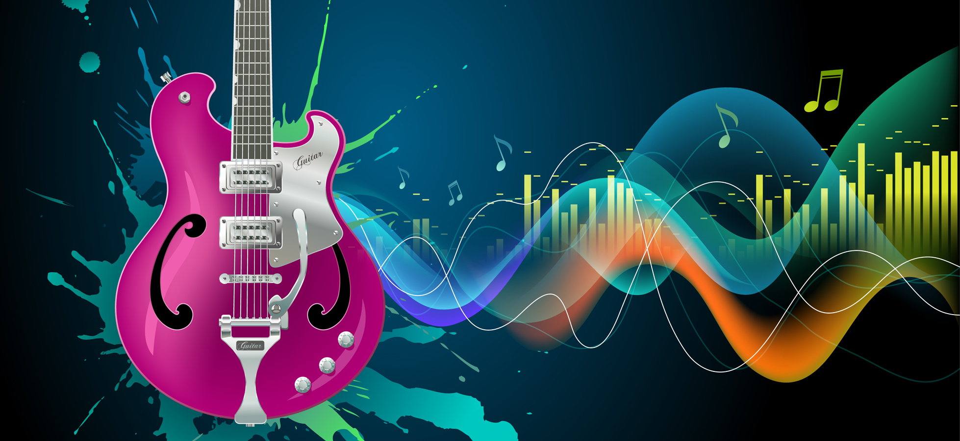 Music Background Images: Colorful Musical Background Color, Beautiful, Ripple