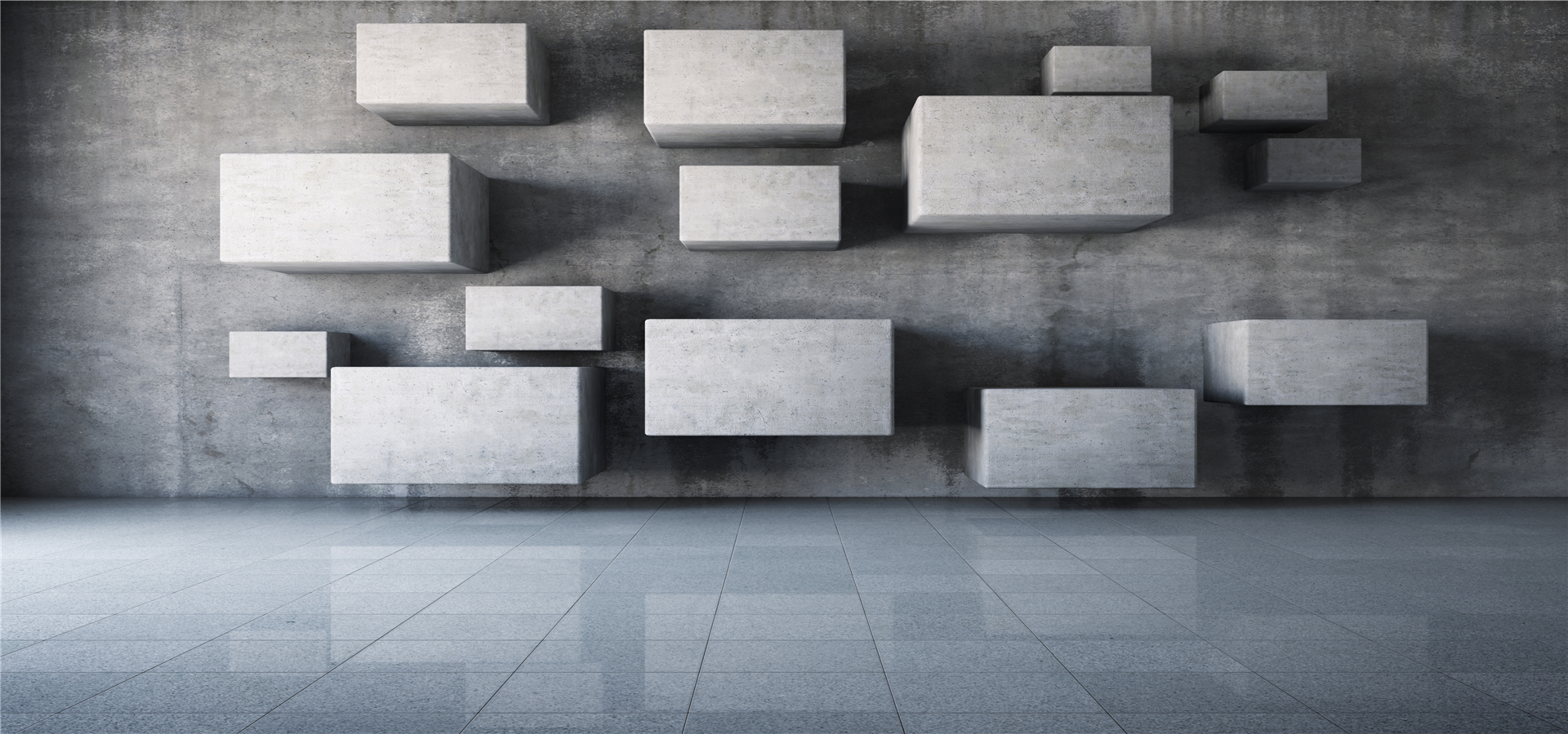 threedimensional square gray box background  3d  geometry