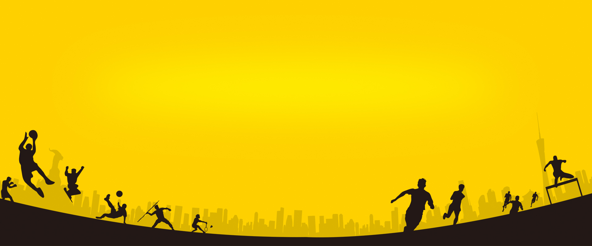 sports silhouette yellow background  yellow  silhouette