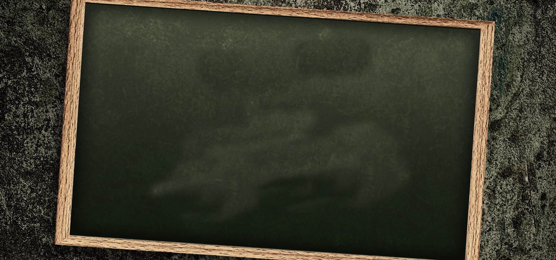Blank Chalkboard Background Blackboard Black Wood