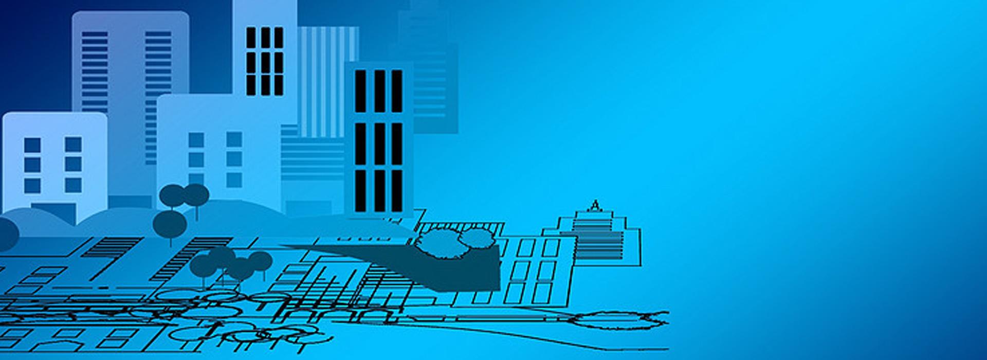 l image de dessin d architecture de fond bleu banni u00e8re en
