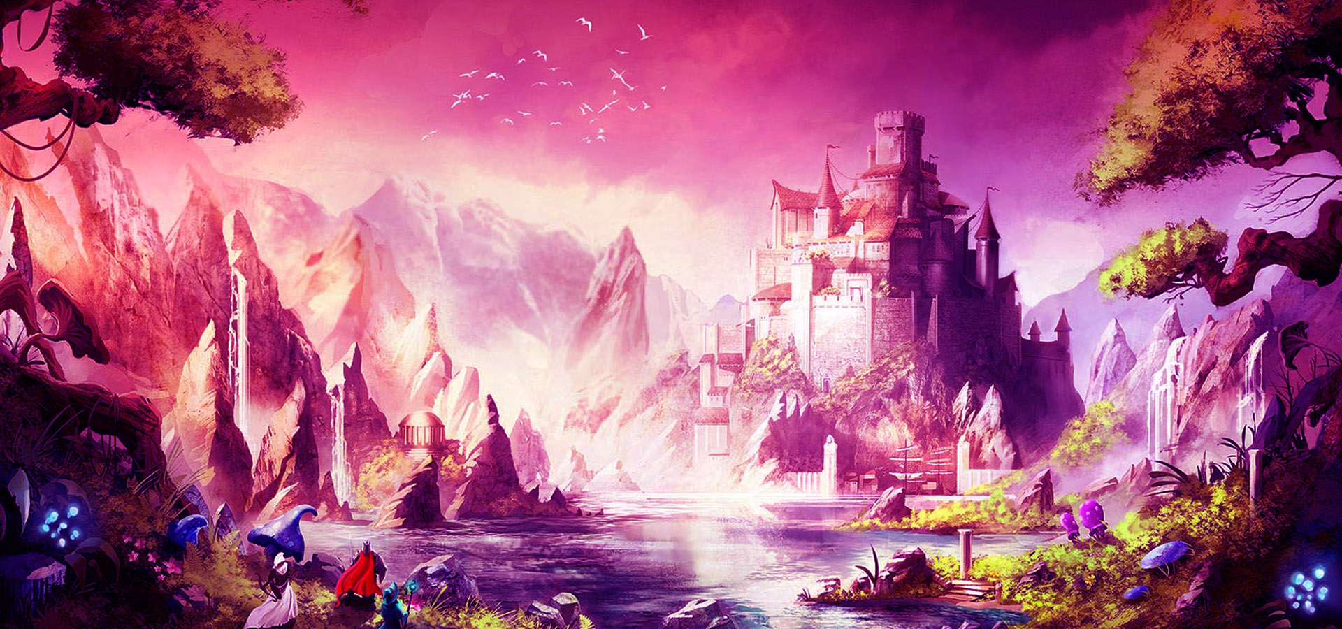 cartoon magic castle background  cartoon  magic  castle
