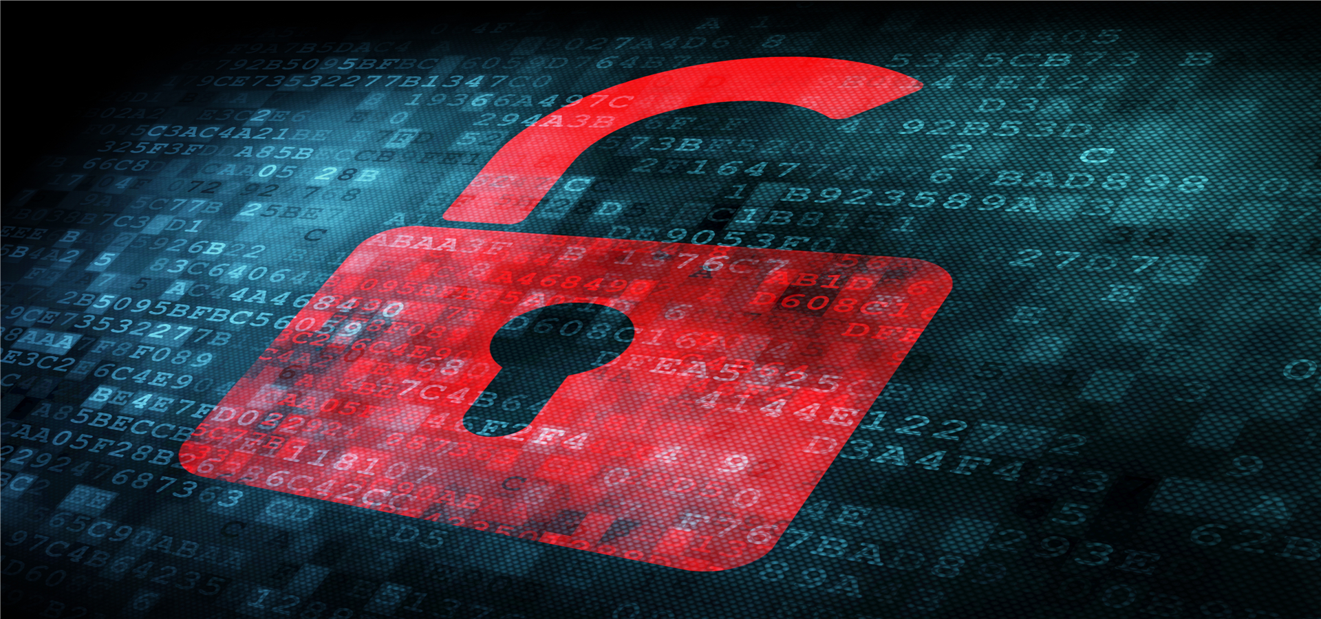 red background lock secure network  cyber  security