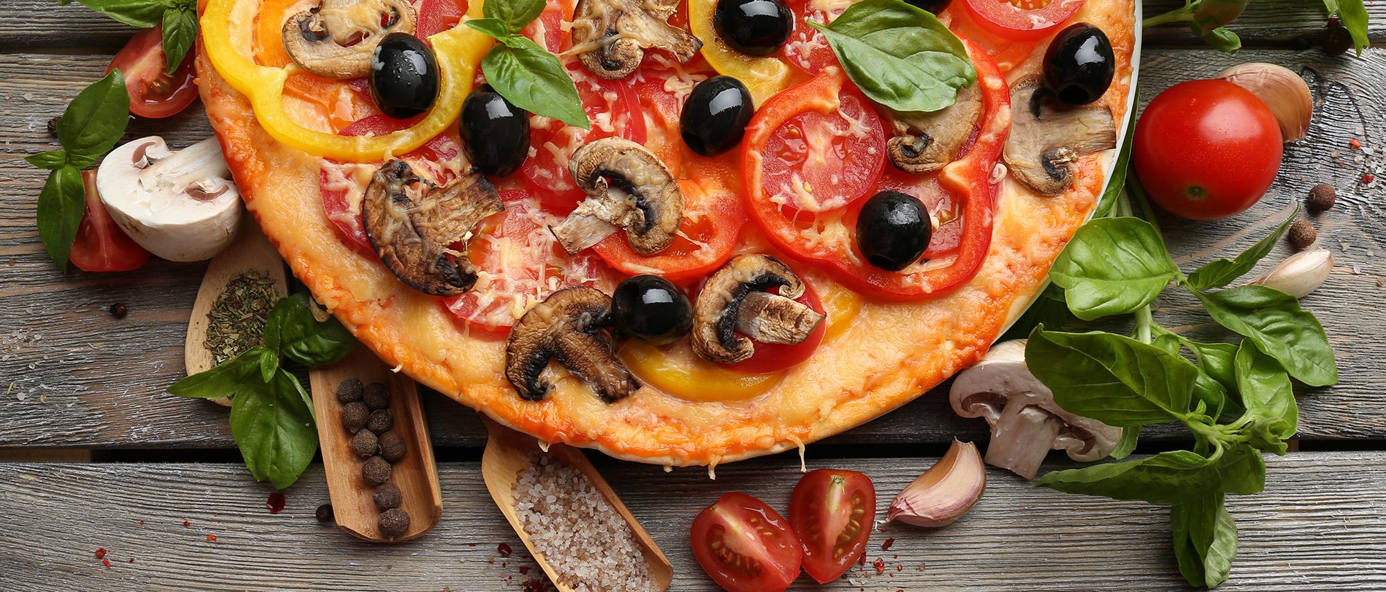 pizza la nourriture fromage olive contexte pepper le d u00eener