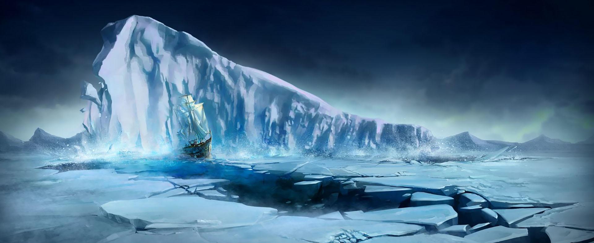 glacier de d u00e9coration de fond de banni u00e8re glacier bateau
