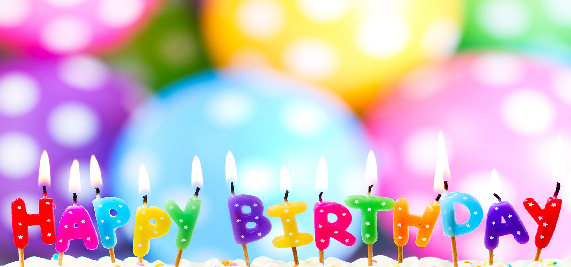 Colorful Birthday Background Colorful Birthday Candle Background