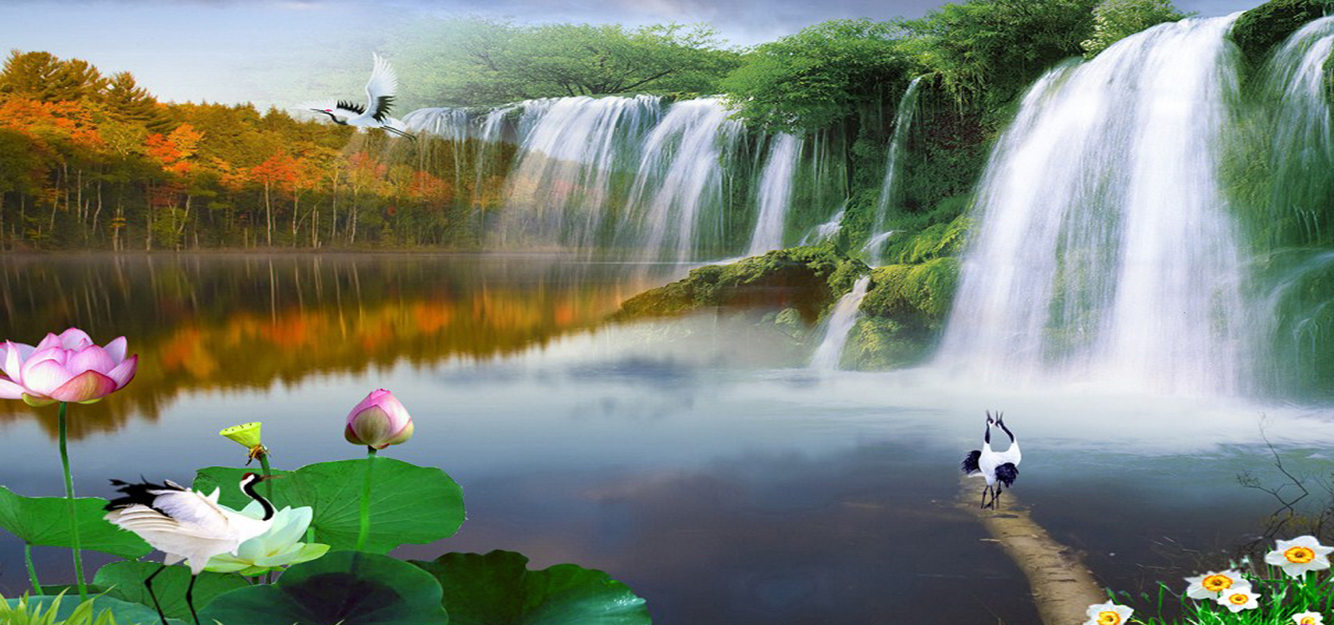 Nature Background, Natural, Scenery, Waterfall Background ...