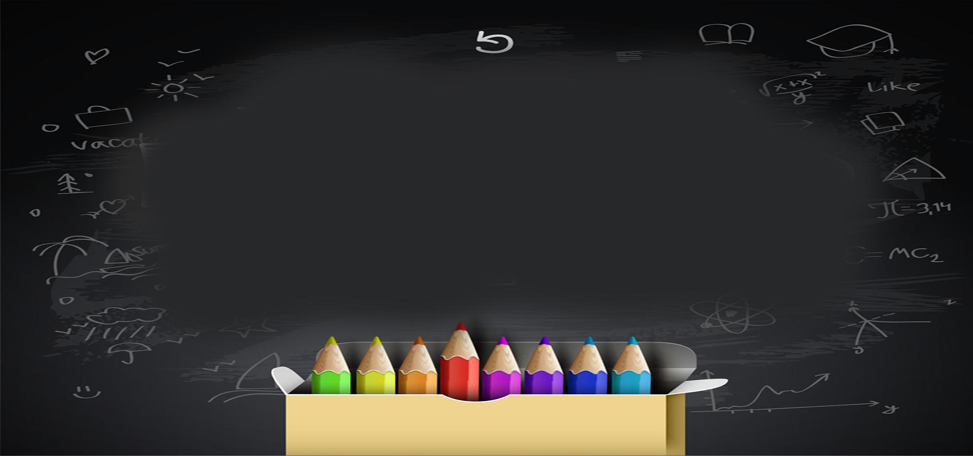 Pencils Background Blackboard, Pencil, Blackboard ...